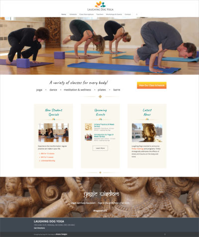 Web Design for Yoga Studios, Mind Body Integration